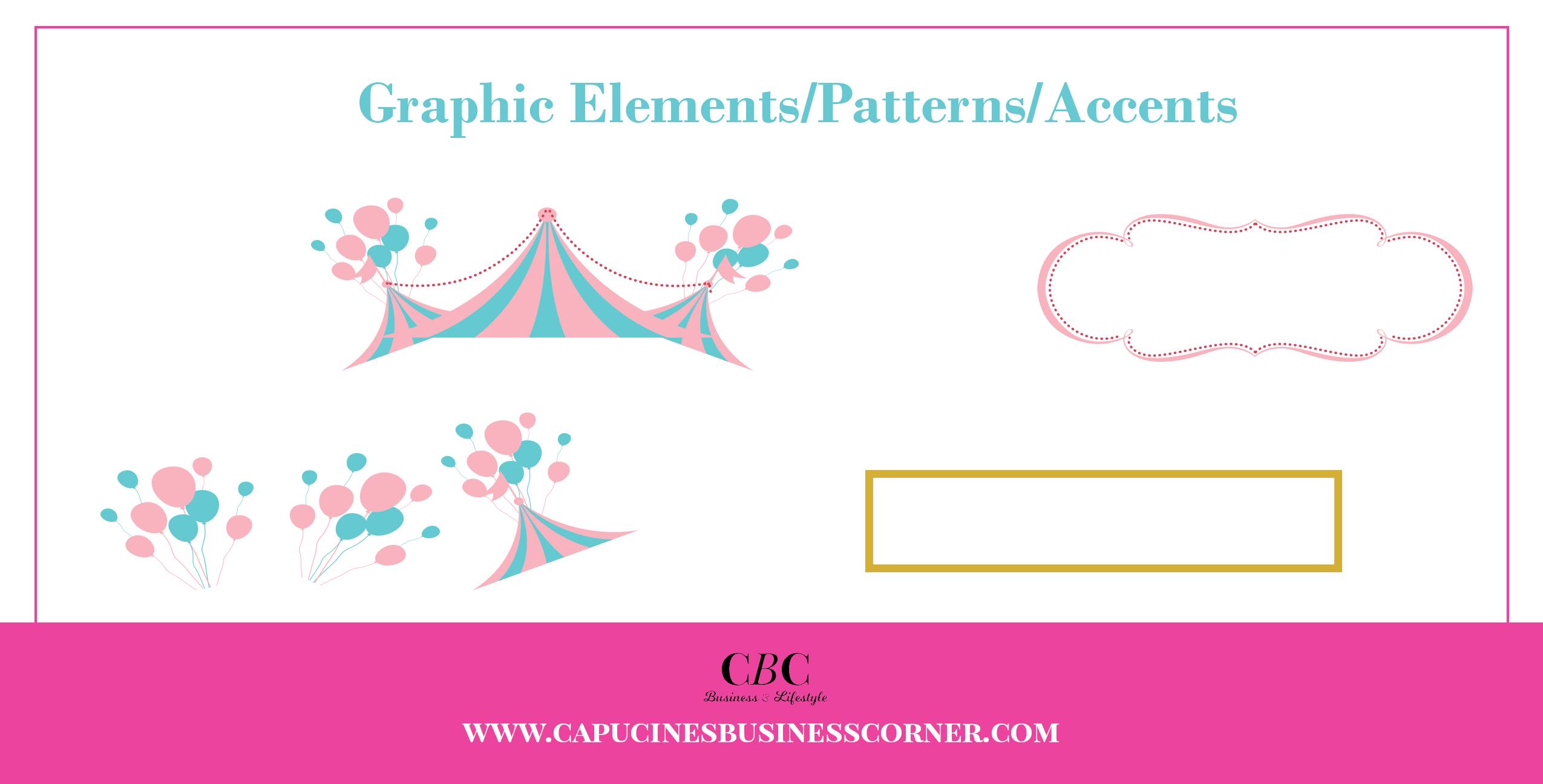 Branding board Capucines-Business-Corner typography